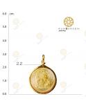 พิฆเนศ เหรียญกลมกลางทอง จับขอบ