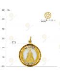 ชินราช ดอกไม้ข้างพลอยกลมใหญ่ทอง จับขอบ