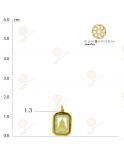 ชินราช สี่เหลี่ยมพลอยจิ๋วทองเกลี้ยง