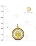 กวนอิม พันมือกลมพลอยเล็กทองเกลี้ยง