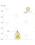 ชินราช ดวงตาสามเหลี่ยมจับขอบเล็ก 3K (เปลี่ยนทรงกรอบ)