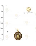 กวนอิม กลมพลอย 3 มิติทองเกลี้ยง