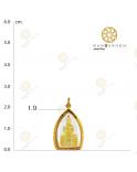 ล.พ.โสธร ปี 46 สามเหลี่ยมจับขอบเล็กทอง (เปลี่ยนทรงกรอบ)