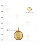 ชินราช เหรียญกลมทองจิ๋ว จับขอบ