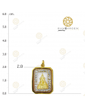 ชินราช สี่เหลี่ยมล้อมพลอยทองเกลี้ยง