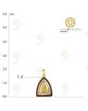 ชินราช สามเหลี่ยมพลอยจิ๋วทองเกลี้ยง