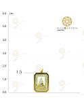 ชินราช สี่เหลี่ยมล้อมพลอย 3K เกลี้ยง