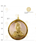 ร.9 ครองราชย์ 50 ปี เหรียญกลมใหญ่ จับขอบ