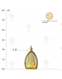 ชินราช ดวงตาสามเหลี่ยมจับขอบเล็กทอง (เปลี่ยนทรงกรอบ)