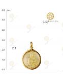 สมเด็จโต เหรียญกลมกลางทอง จับขอบ
